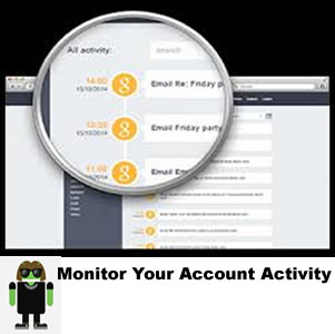 how to monitor your email account activity