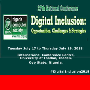 27th National Conference of the NCS - DigitalInclusion2018